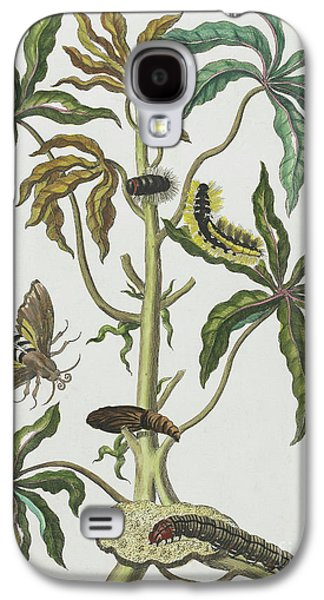Caterpillars And Insects With Foliage Galaxy S4 Case by Maria Sibylla Graff Merian