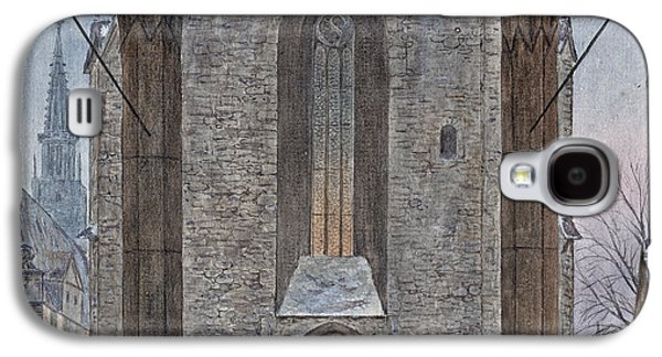 Cathedral In Winter Galaxy S4 Case by Ernst Ferdinand Oehme