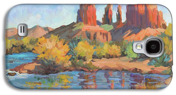 Moonrise Cathedral Rock Sedona Galaxy S4 Case by Diane McClary