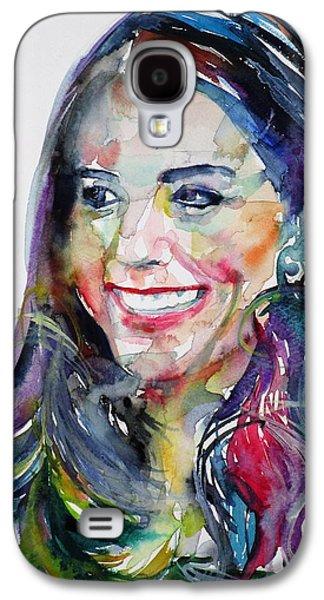 Catherine,duchess Of Cambridge - Watercolor Portrait.5 Galaxy S4 Case