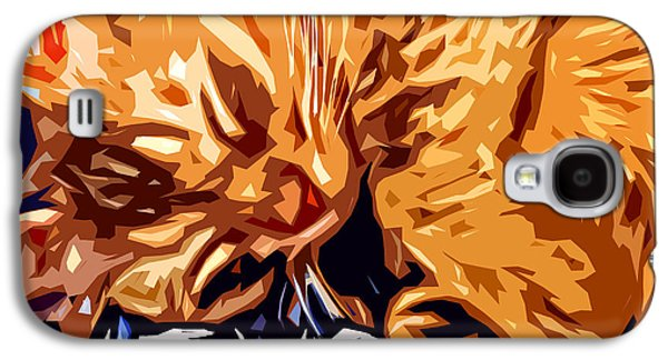 Catnap Galaxy S4 Case by David G Paul