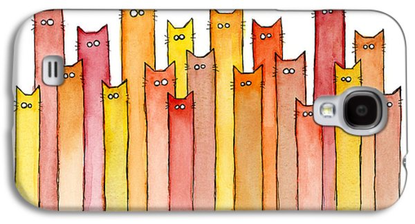 Cats Autumn Colors Galaxy S4 Case by Olga Shvartsur