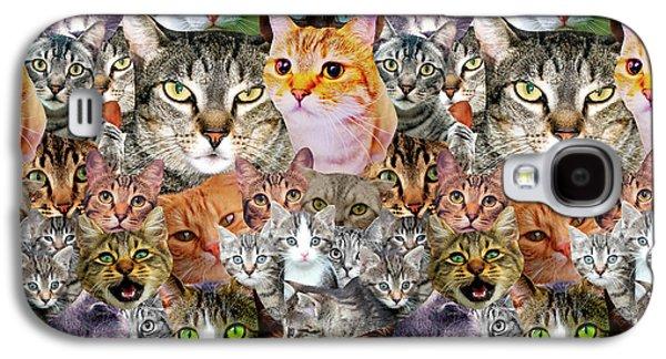 Cats Galaxy S4 Case by Gloria Sanchez