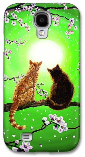 Cats On A Spring Night Galaxy S4 Case by Laura Iverson
