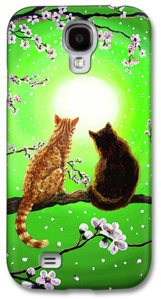 Cats On A Spring Night Galaxy S4 Case