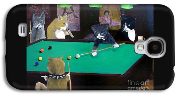 Cats Playing Pool Galaxy S4 Case