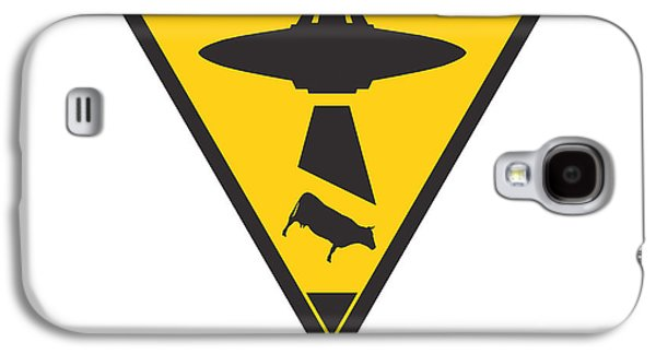 Caution Ufos Galaxy S4 Case by Pixel Chimp