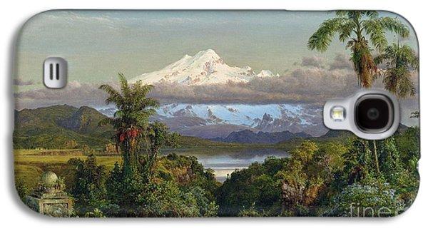 Cayambe Galaxy S4 Case by Frederic Edwin Church