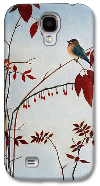 Cedar Waxwing Galaxy S4 Case by Laura Tasheiko