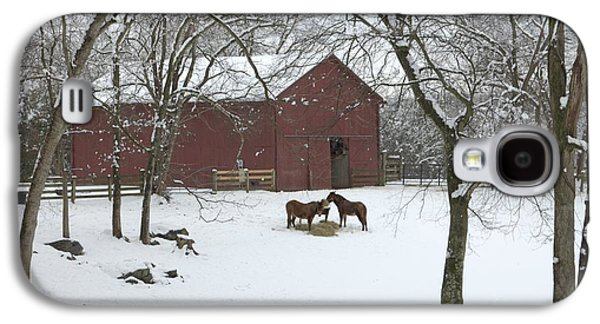 Cedarock Park In The Snow Galaxy S4 Case by Benanne Stiens