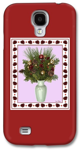 Celadon Vase With Christmas Bouquet Galaxy S4 Case by Lise Winne