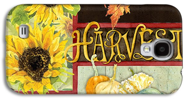 Celebrate Abundance - Harvest Fall Leaves Squash N Sunflowers W Paisleys Galaxy S4 Case by Audrey Jeanne Roberts