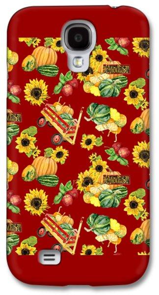 Celebrate Abundance Harvest Half Drop Repeat Galaxy S4 Case by Audrey Jeanne Roberts