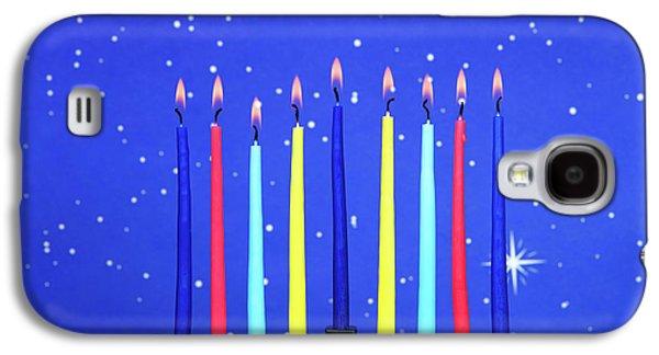 Celebrating Hanukkah Galaxy S4 Case by Sheila Fitzgerald