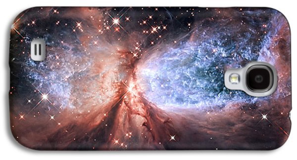 Galaxy S4 Case featuring the photograph Celestial Snow Angel - Enhanced - Sharpless 2-106 by Adam Romanowicz