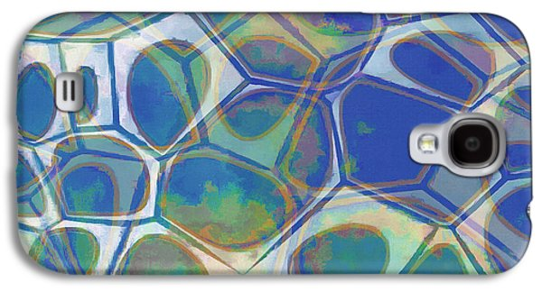 Blue Galaxy S4 Case - Cell Abstract 13 by Edward Fielding