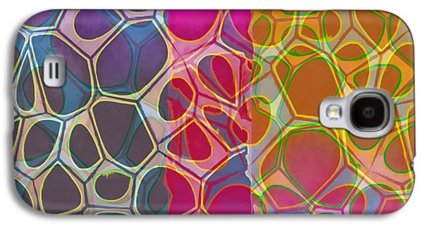 Cells 10 Abstract Painting Galaxy S4 Case by Edward Fielding