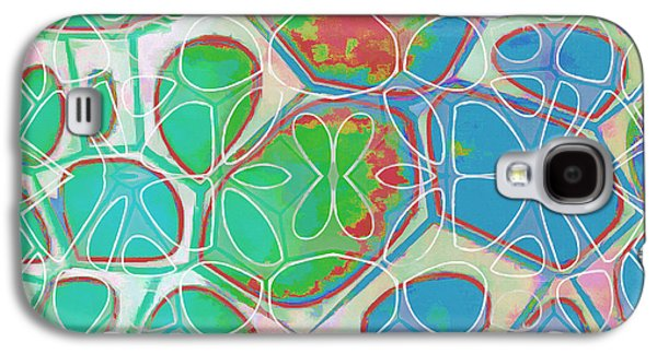 Cells 11 - Abstract Painting  Galaxy S4 Case by Edward Fielding
