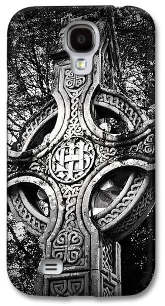 Religious Galaxy S4 Cases - Celtic Cross Detail Killarney Ireland Galaxy S4 Case by Teresa Mucha