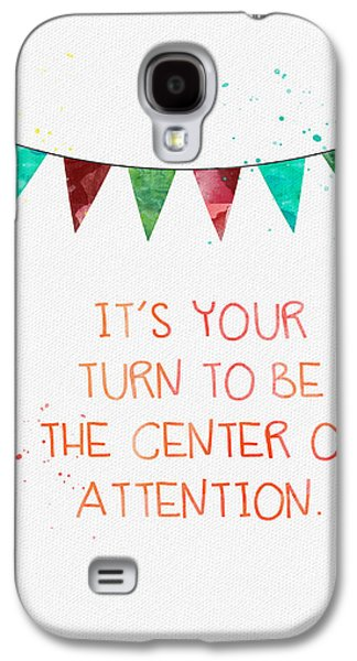 Center Of Attention- Card Galaxy S4 Case by Linda Woods