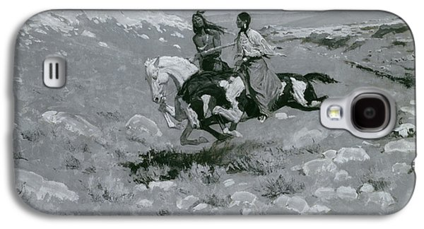 Wild Racers Galaxy S4 Case - Ceremony Of The Fastest Horse by Frederic Remington