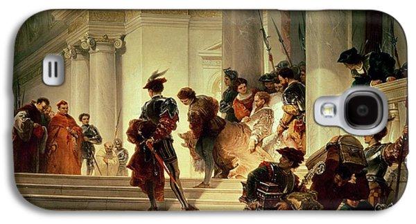 Cesare Borgia Leaving The Vatican Galaxy S4 Case by Giuseppe Lorenzo Gatteri