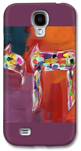 Chai Of Many Colors- Art By Linda Woods Galaxy S4 Case by Linda Woods