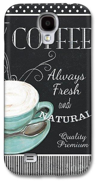 Chalkboard Retro Coffee Shop 1 Galaxy S4 Case by Debbie DeWitt