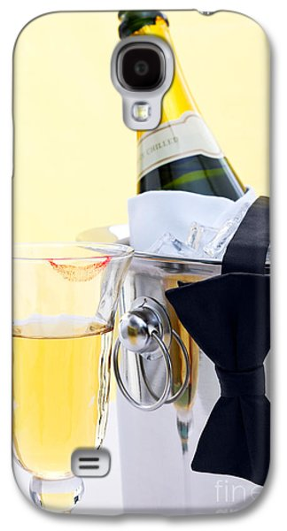 Champagne Black Tie And Lipstick Galaxy S4 Case by Richard Thomas