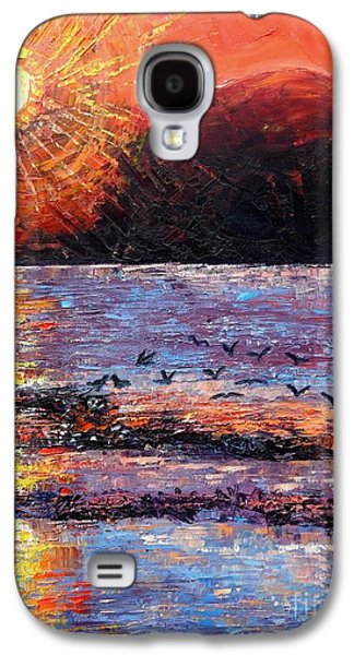 Champagne Sunset.  Galaxy S4 Case by Caroline Street
