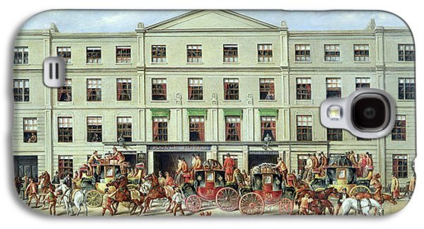Changing Horses Outside The Plough Inn Galaxy S4 Case by JC Maggs