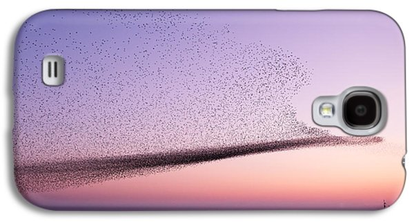 Chaos In Motion - Starling Murmuration Galaxy S4 Case