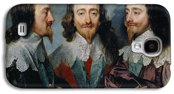 Charles I,  Anthony Van Dyck, 1635 -1636 Galaxy S4 Case by Celestial Images