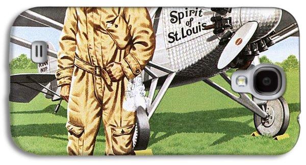 Charles Lindbergh Galaxy S4 Case by John Keay