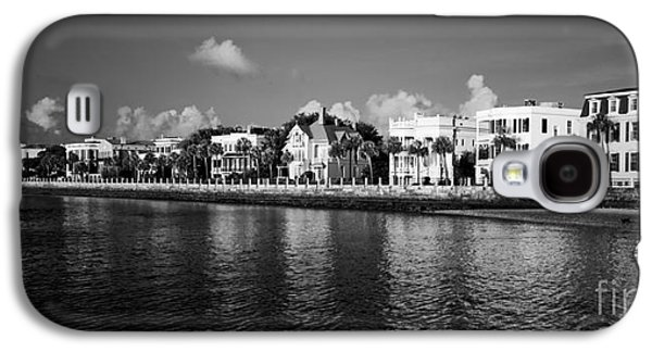 Charleston Battery Row Black And White Galaxy S4 Case by Dustin K Ryan