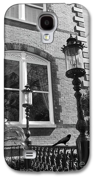 Charleston French Quarter Architecture - Window Street Lanterns Gothic French Black White Art Deco  Galaxy S4 Case