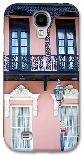 Charleston The Mills House Lace Balconies And Window Architecture - Charleston Historical District Galaxy S4 Case by Kathy Fornal