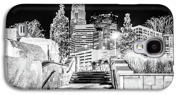 Charlotte At Night Black And White Photo Galaxy S4 Case by Paul Velgos