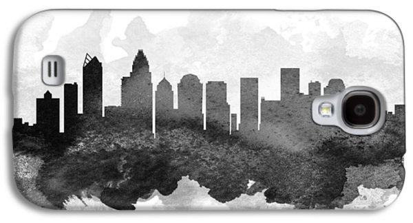 Charlotte Cityscape 11 Galaxy S4 Case by Aged Pixel
