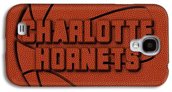 Charlotte Hornets Leather Art Galaxy S4 Case by Joe Hamilton
