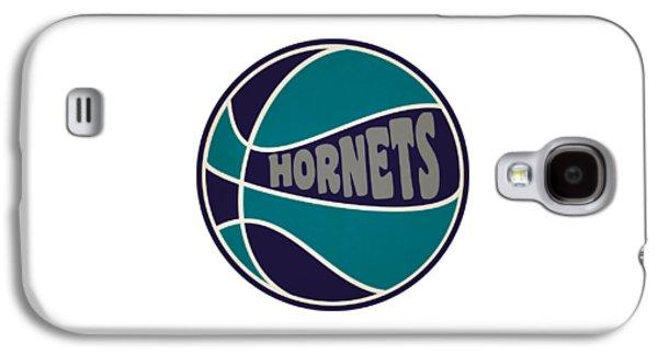 Charlotte Hornets Retro Shirt Galaxy S4 Case by Joe Hamilton