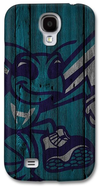 Charlotte Hornets Wood Fence Galaxy S4 Case by Joe Hamilton