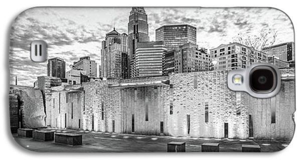 Charlotte Nc Black And White Panoramic Picture Galaxy S4 Case by Paul Velgos