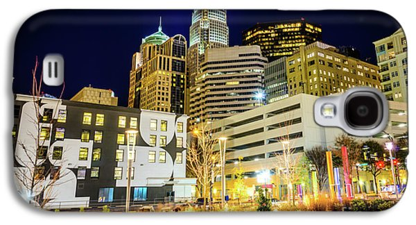 Charlotte Nc Downtown City At Night Photo Galaxy S4 Case by Paul Velgos