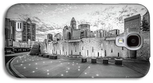 Charlotte Nc Skyline Black And White Photo Galaxy S4 Case by Paul Velgos