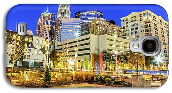 Charlotte North Carolina At Night Panorama Photo Galaxy S4 Case by Paul Velgos