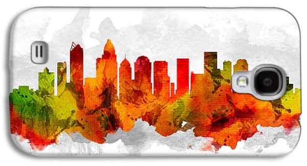 Charlotte Galaxy S4 Cases - Charlotte North Carolina Cityscape 15 Galaxy S4 Case by Aged Pixel