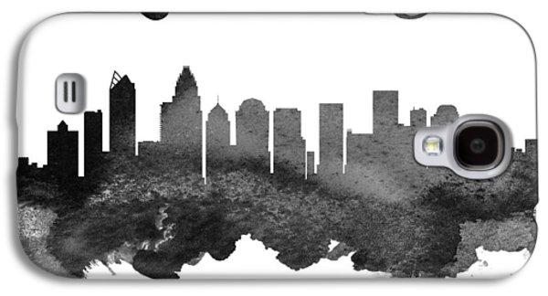 Charlotte North Carolina Skyline 18 Galaxy S4 Case by Aged Pixel