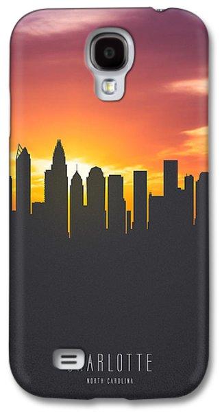 Charlotte North Carolina Sunset Skyline Galaxy S4 Case by Aged Pixel