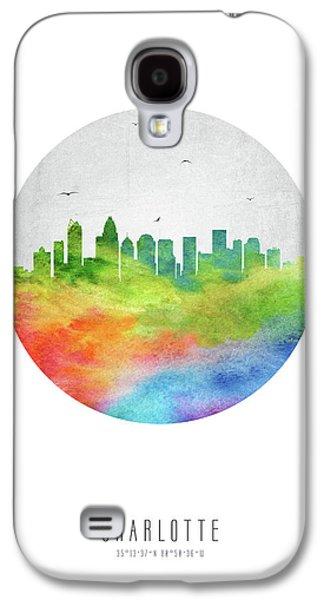 Charlotte Skyline Usncch20 Galaxy S4 Case by Aged Pixel